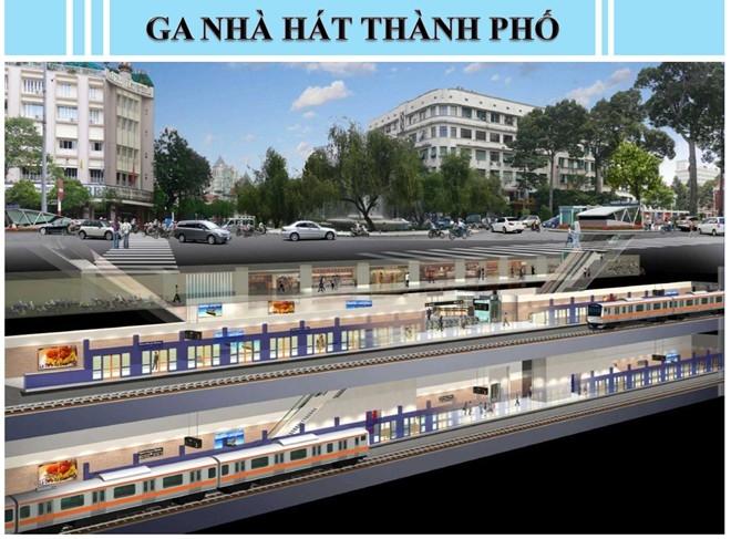 Tàu điện ngầm đầu tiên ở Việt Nam.