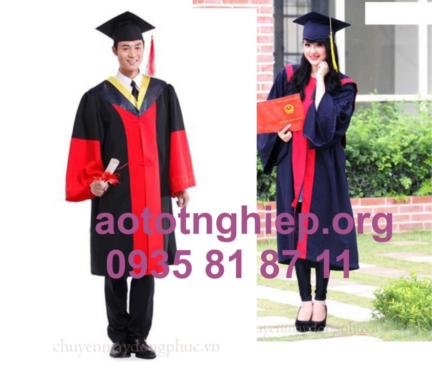 Xưởng may áo lễ phục tốt nghiệp
